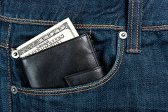 Wallet in pocket Stock Photo