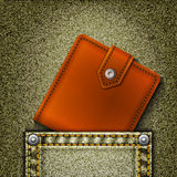 wallet in pocket. Royalty Free Stock Photo