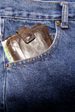 Wallet in pocket Royalty Free Stock Photos