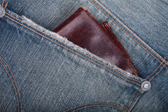 Wallet on a pocket Royalty Free Stock Image