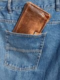 Wallet in pocket Royalty Free Stock Image