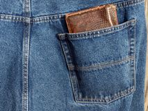 Wallet in pocket 3 Royalty Free Stock Photography