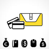 Wallet or Pocketbook Vector Icon Royalty Free Stock Image