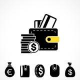 Wallet or Pocketbook Vector Icon Stock Photo