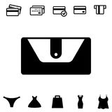 Wallet or Pocketbook Vector Icon Royalty Free Stock Images