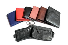 Wallet and pouches Stock Images
