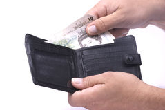 Wallet with Pounds Royalty Free Stock Images