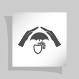Wallet Protection Icon. Flat Design. Royalty Free Stock Image
