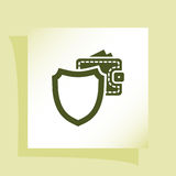 Wallet Protection Icon. Flat Design. Royalty Free Stock Images