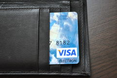 Wallet, purse with credit card, capital, finance Stock Photos