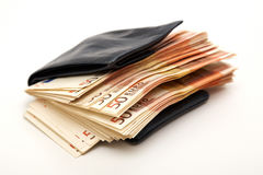 wallet of a rich person Stock Images