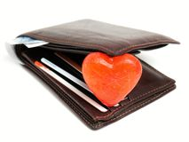 Wallet romance royalty free stock photography