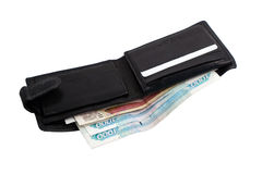 Wallet with rubles. On white background, isolated Royalty Free Stock Images