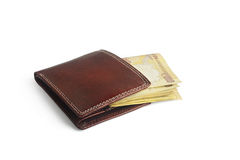 Wallet with rupees Stock Images