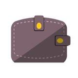 Wallet save money flat icon. Illustration eps 10 Stock Photography