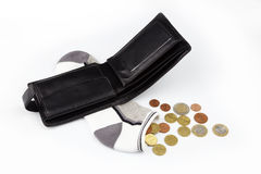 Wallet and sock Stock Photography