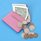 Wallet Spilling Out American Cash Stock Photography