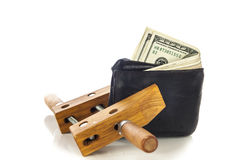 Wallet squeezed concept Royalty Free Stock Photography
