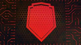 Wallet Symbol Circuit Board With Shield Royalty Free Stock Images