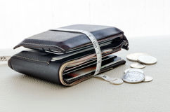 Wallet with tape measure Royalty Free Stock Image
