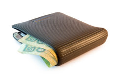 Wallet with thai baht Stock Photos