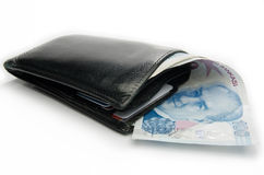 Wallet with turkish lira Royalty Free Stock Image