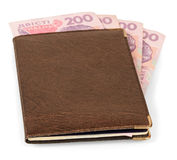 Wallet with Ukrainian banknotes Royalty Free Stock Photos