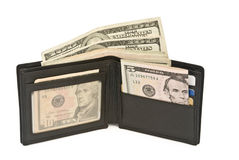 Wallet and USD dollars Stock Photography