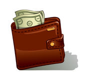 Wallet vector illustration Royalty Free Stock Image
