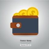 Wallet vector symbol. Stock Photos