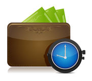 Wallet and watch illustration design Stock Photos