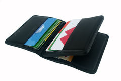 Wallet on a white background Royalty Free Stock Photo