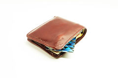 Wallet on a white background. Royalty Free Stock Photography