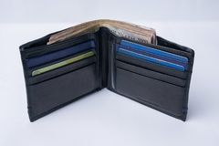 Free Wallet With Money And Credit Cards Stock Images - 131491034