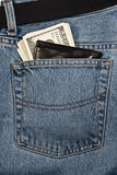 Wallet With Money In Jeans Royalty Free Stock Image