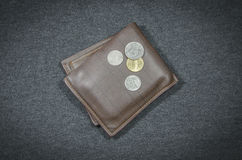 Wallets and coin money Stock Images