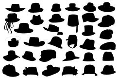 Wallets collection silhouette  illustration Royalty Free Stock Photos