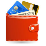 Wallets with money Royalty Free Stock Photos