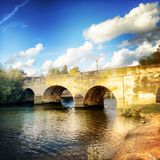 Wallingford bridge over the river Thames Royalty Free Stock Photo