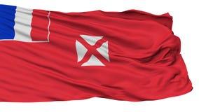 Wallis And Futuna Flag, d'isolement sur le blanc illustration stock