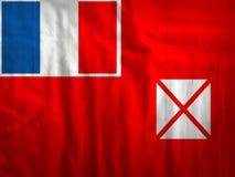 Wallis i Futuna flaga tkaniny tekstury tkanina Zdjęcia Stock