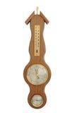 Wallmounted barometer stock photos