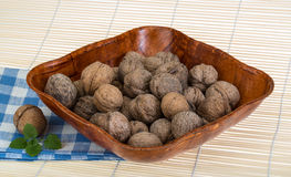 Wallnut in the basket Stock Photo