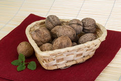 Wallnut in the basket Stock Photography