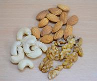 Wallnut do caju de Amonds imagem de stock royalty free