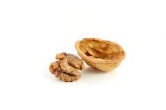 Wallnuts on white Stock Image