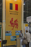 Wallonia Belgium company booth Royalty Free Stock Photos
