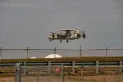 Wallops Island, Virginia - March 28, 2018: Navy Hawkeye Airplane at NASA Wallops center royalty free stock images