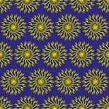 花卉与花典雅的春黄菊的传染媒介无缝的样式 自然手拉的背景 不尽的纹理可以为wallp使用 免版税库存照片