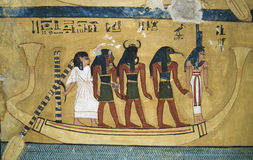 Wallpainting egiziano 2 Fotografia Stock Libera da Diritti